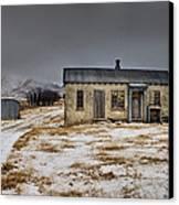 Historic Farm After Snowfall Otago New Canvas Print by Colin Monteath