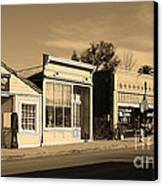 Historic Niles District In California Near Fremont . Main Street . Niles Boulevard . 7d10676 . Sepia Canvas Print by Wingsdomain Art and Photography