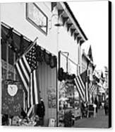 Historic Niles District In California Near Fremont . Main Street . Niles Boulevard . 7d10693 . Bw Canvas Print by Wingsdomain Art and Photography