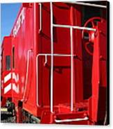 Historic Niles District In California Near Fremont . Western Pacific Caboose Train . 7d10622 Canvas Print by Wingsdomain Art and Photography
