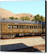 Historic Niles Trains In California . Old Western Pacific Passenger Train . 7d10836 Canvas Print by Wingsdomain Art and Photography