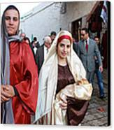 Holy Family At 4th Annual Christmas March For Peace And Unity Canvas Print by Munir Alawi