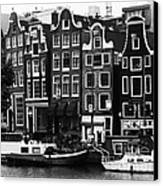 Homes Of Amsterdam Canvas Print by Leslie Leda