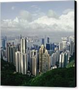 Hong Kong Island And The Bay Canvas Print by Jason Edwards