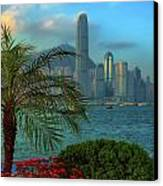 Hong Kong Mornings Canvas Print by Bibhash Chaudhuri