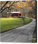 Hoosier Autumn - D007843a Canvas Print by Daniel Dempster