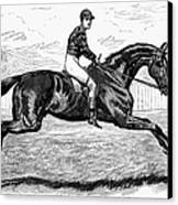 Horse Racing, 1880s Canvas Print by Granger