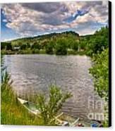 Horsetooth Reservoir Summer Scene Canvas Print by Harry Strharsky