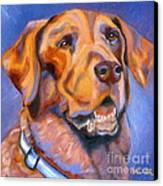 Hot Chocolate Lab Canvas Print by Susan A Becker