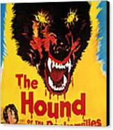 Hound Of The Baskervilles, Hammer Canvas Print by Everett