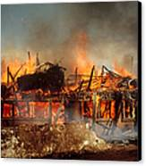 House On Fire Canvas Print by Photo Researchers, Inc.