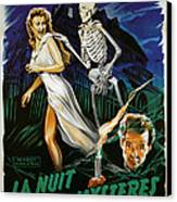 House On Haunted Hill, Carol Ohmart Canvas Print by Everett