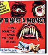 How To Make A Monster, Half-sheet Canvas Print by Everett