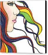 I Am My Own Rainbow Canvas Print by Nora Blansett
