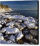 Ice Pieces, Cape Turner, Prince Edward Canvas Print by John Sylvester