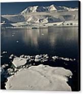 Icefloe In The Neumayer Channel Canvas Print by Colin Monteath