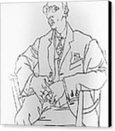 Igor Stravinsky, Russian Composer Canvas Print by Omikron