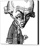 Immanuel Kant, Caricature Canvas Print by Gary Brown