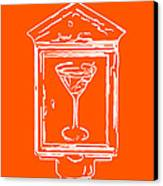In Case Of Emergency - Drink Martini - Orange Canvas Print by Wingsdomain Art and Photography
