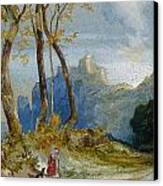In The Hills Canvas Print by Thomas Moran
