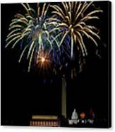 Independence Day In Dc Canvas Print by David Hahn