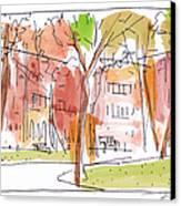 Independence Park Philadelphia Canvas Print by Marilyn MacGregor