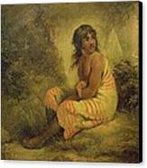 Indian Girl Canvas Print by George Morland
