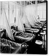 Influenza Ward Canvas Print by Usa Library Of Medicine