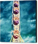 infrared Ferris wheel Canvas Print by Stelios Kleanthous