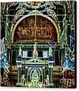 Inside St Louis Cathedral Jackson Square French Quarter New Orleans Glowing Edges Digital Art Canvas Print by Shawn O'Brien