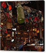 Inside The Bar In Luckenbach Tx Canvas Print by Susanne Van Hulst