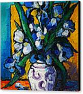 Irises Canvas Print by Mona Edulesco