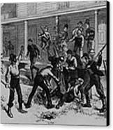 Irish Laborers Killing An African Canvas Print by Everett