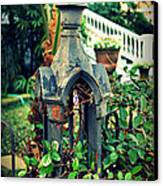 Iron Fence Detail Canvas Print by Perry Webster