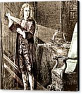 Isaac Newton Ray Of Light Canvas Print by Science Source