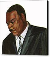 Issa Hayatou Canvas Print by Emmanuel Baliyanga