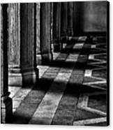 Italian Columns In Venice Canvas Print by McDonald P. Mirabile