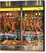 Italian Market Butcher Shop Canvas Print by John Greim