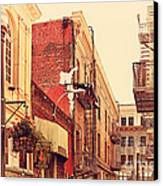 Jack Kerouac Street San Francisco . 7d7437 Canvas Print by Wingsdomain Art and Photography
