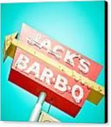 Jack's Bar-b-q Canvas Print by David Waldo