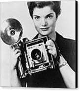 Jacqueline Bouvier As The Inquiring Canvas Print by Everett