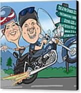Jaime Caricature Canvas Print by Chris Berg