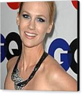 January Jones At Arrivals Canvas Print by Everett