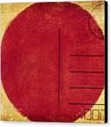 Japan Flag Postcard Canvas Print by Setsiri Silapasuwanchai