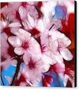 Japanese Flower Canvas Print by Stefan Kuhn