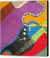 Jazz Trio Canvas Print by Derril Foster