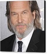 Jeff Bridges At Arrivals For True Grit Canvas Print by Everett