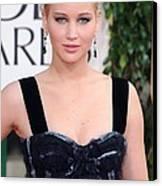 Jennifer Lawrence Wearing A Louis Canvas Print by Everett
