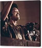 Jesse Jackson Speaks On A Radio Canvas Print by Everett