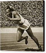 Jesse Owens Canvas Print by American School